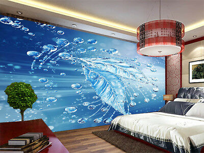 Translucent Water Leave 3D Full Wall Mural Photo Wallpaper Print Home Kids Decor