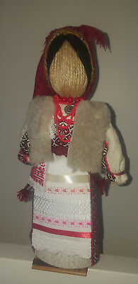 """Handmade 12""""/28cm Doll on Stand in Ukrainian Traditional Style"""