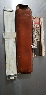 Compass No. 1325 Vector Slide Rule with a Pickett leather case