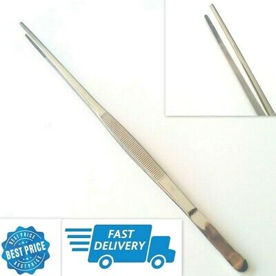 "Stainless Steel Mega Tweezer Extra Long Forceps 24"" LONG STRAIGHT TIP S.S"