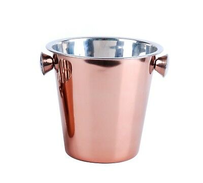 Large Copper Effect Stainless Steel Champagne Bucket Party Bar Ice Wine Cooler