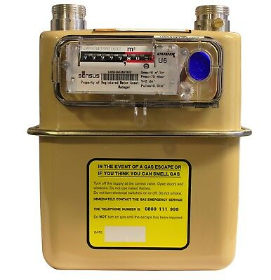 U6 / G4 Gas Meter - Standard Sensus Diaphragm Meter Angled Viewing Index