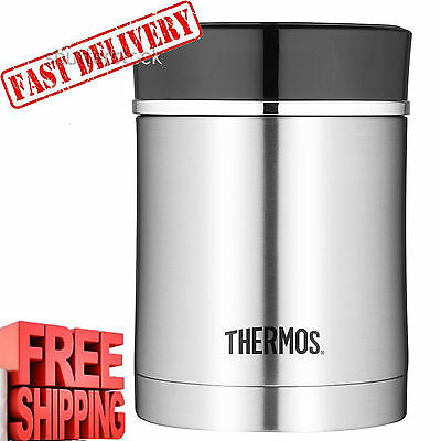Stainless Steel Thermos 16 Oz Food Jar Lunch Insulated Hot Soup Container