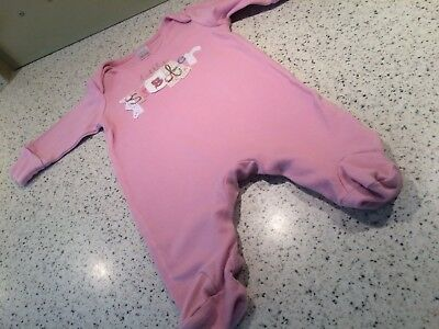 """Next Baby Girl """"Little Sister"""" Babygrow age 0-3 Months"""