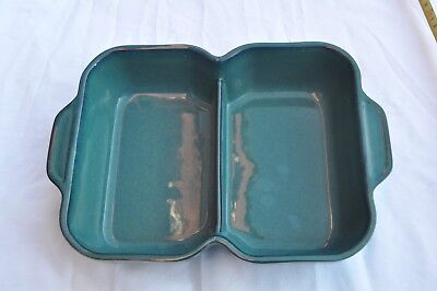 Denby oven to tableware greenwich accent baking Divided Dish 31 x 22 x 6.7cm