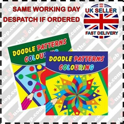 Doodle Patterns Book 1&2 Stress Relief Adult Colouring Childrens Colouring