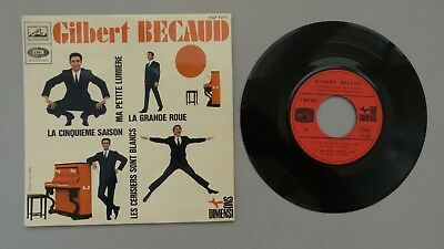 Gilbert Becaud. E.P. La Grande Rue+3. Top.