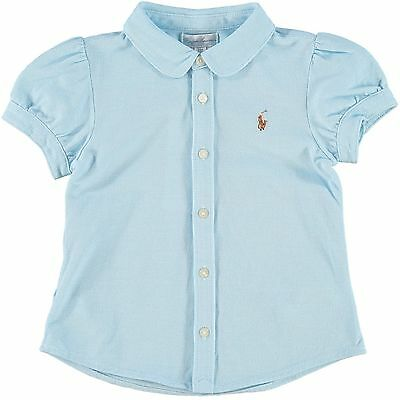 RALPH LAUREN baby girl ss BLOUSE 3 6 9 12 18 24M 100% cotton BNWT