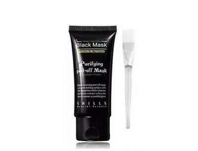 AU Blackhead Remover Nose Face Mask Strip Black Head Pore Acne Clean Mud / Brush