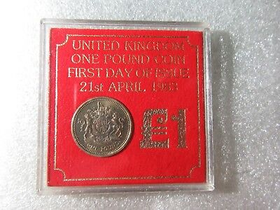 Uk   1983 One Pound Coin     1  Coin