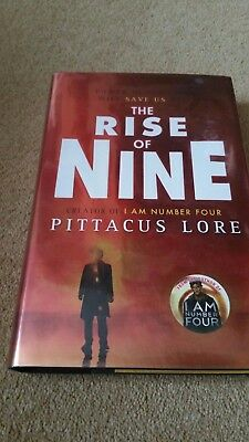 PITTACUS LORRE   The Rise of Nine       ** SIGNED 1st /1st **