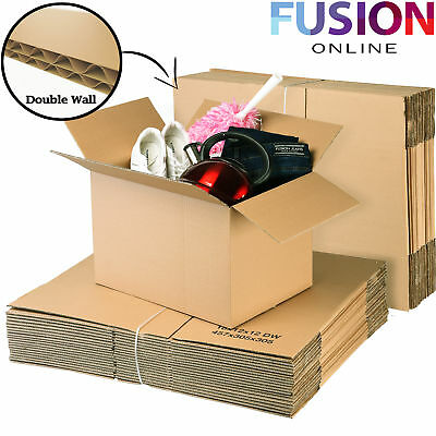 Cardboard Boxes Large Moving Double Wall Strong Removal Post Boxes 18X12X12 Inch