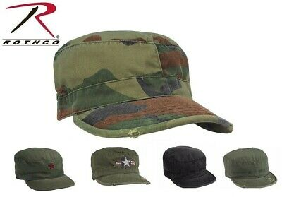 65c4c4753f9 Rothco Vintage Military Fatigue Hat Fitted - US Army Uniform Patrol Cap  Washed