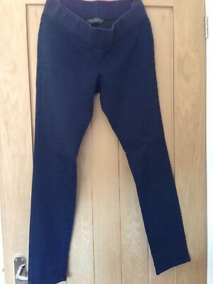 Ladies Navy Blooming Marvellous Slim Fit Maternity Trousers/Jeans Size 12R