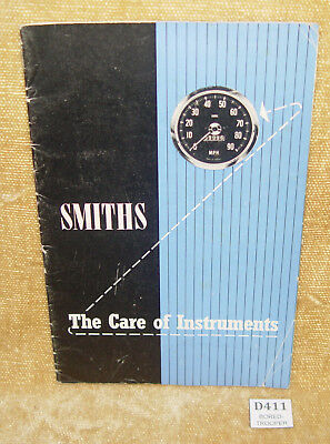 SMITHS The Care of Instruments September 1958 S1347 Original Owners Handbook PB