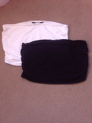 Ladies Mothercare Bump/Belly Bands Maternity Size Medium Black/white