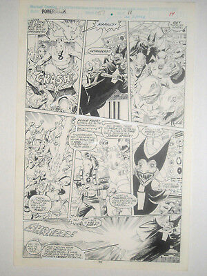GRAY MORROW Comic Art 1989 Marvel POWER PACK page 14 No. 51