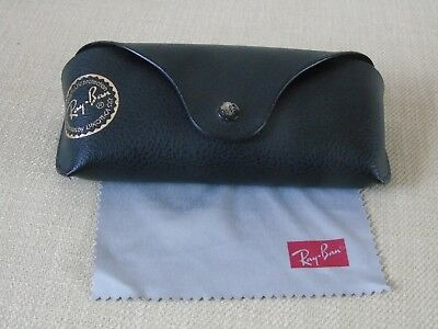 Black Rayban glasses/sunglasses case with cloth