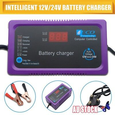 12V/24V 200AH Electric Car Dry&wet Battery Charger Intelligent Pulse Repair New