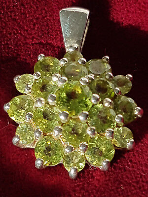 Peridot Anhänger Ohrringe Sterling Silber IS punziert silver 925 Harry Ivens