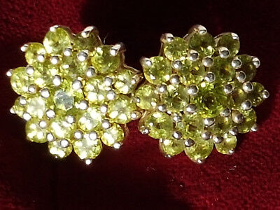 Peridot Ohrstecker Ohrringe Sterling Silber IS punziert silver 925 Harry Iven