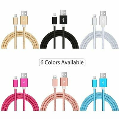 [3-PACK] Heavy Duty EXTRA Long 10 FT Lightning iPhone USB Charger Cable Cord