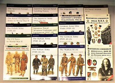 Group Of 18 W.w.ii  Osprey & Other Reference Books - Germany, Italy & Japan