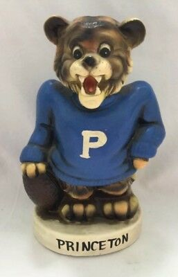 Vintage PRINCETON Football Lion Coin Still Piggy Bank