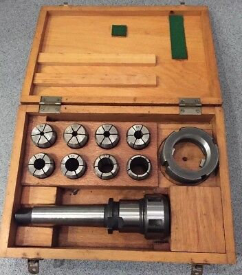 """Milking Kelch Chuck And 9 Collets Set 4 MT 3/16"""" To 1"""" MK Lathe"""