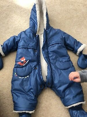 b98bb30ef official 63cfd a84c0 catimini baby boys blue padded snowsuit 3 ...