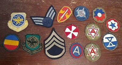 WW2 US ARMY VARIOUS UNIT PATCHES WWII  lot of 14 patches military