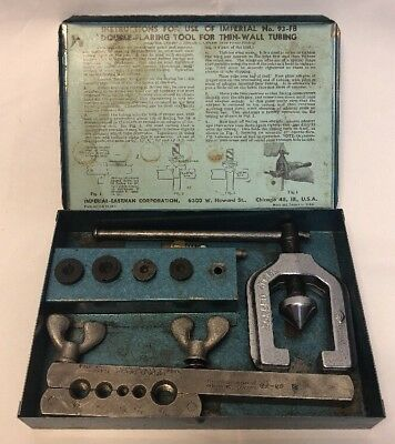 Imperial Eastman Tubing Tool Kit Double Flaring 93-FB Made In USA Vintage