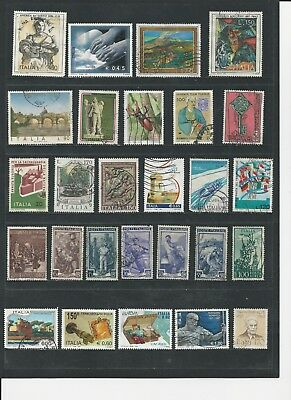 ITALY - FINE COLLECTION OF USED STAMPS - 4 PHOTOS - #ITA10abcd