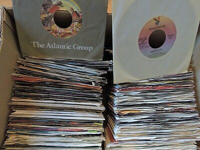 "Random Lot Of 25 7"" 45 Records Art/Decoration Funk Soul Country Pop 1950's-80's"