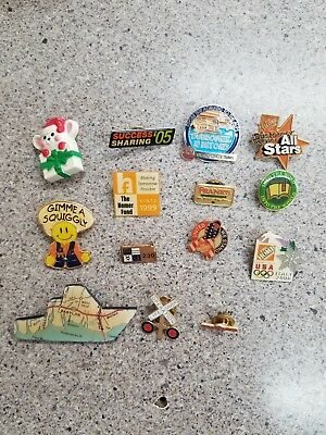 14 Assorted Pins Home Depot, Frank's,  Xmas, Operation Life Saver