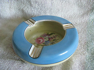 Vtg 30s Noritake Ashtray Floral Peony M Laurel Wreath Backmark Deco Handpainted