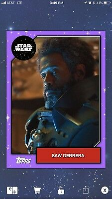 Topps Star Wars Card Trader Series 6 2019 Purple First Edition Saw Gerrera