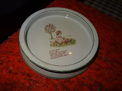 Ridgways - Mother Goose Range childrens bowl - Little Miss Muffet -early 20C