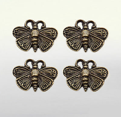 Lot of 4 pcs Antique WASP Animal Decor Solid Brass Drawer Handle Knob Pulls