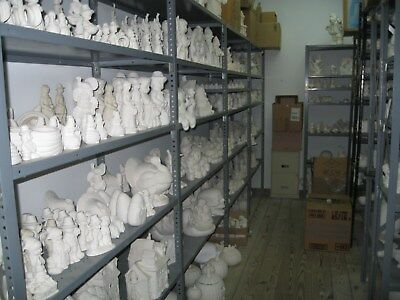 Ready to paint Ceramic Bisque Mixed Lot of 100 items