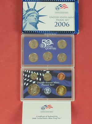2006 United States Mint Proof Set: 50 State Quarters 10Coins Slabbed w/specs&box