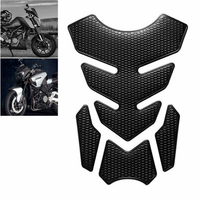 3D Motorcycle Sticker Decals Gas Oil Fuel Tank Pad Protector Accessories Black