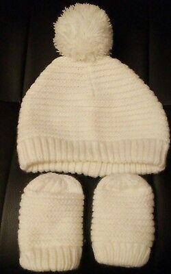 baby girls hat and mittens age 12-24 months