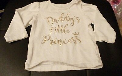daddies little princess top age 3-6 months