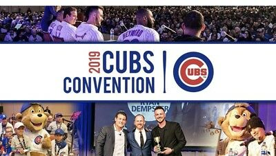 2019 Chicago Cubs Convention Passes Tickets Baseball