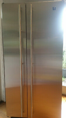 Maytag Plus side by side refrigerator freezer 660L Stainless Steel