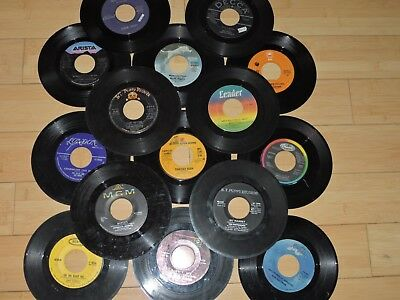 "Random Lot Of 50 7"" 45 Records Art from Juke Funk, Soul, Rap, Pop 1950's-1980's"