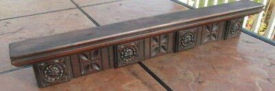 Vintage Carved Mahogany Door Pediment or Crest