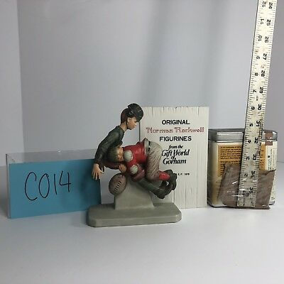 """Norman Rockwell Inspired """"Football Tackle"""" Figurine Gift World Of Gorham C014"""