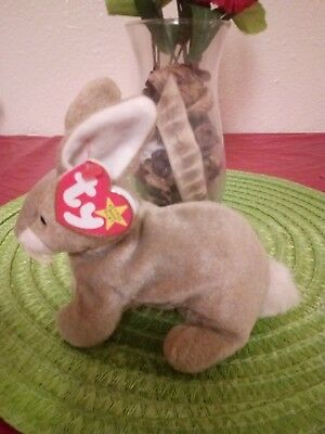 """Ty Beanie Baby """"nibbly"""" Bunny (Error 1998/1999) Easter"""